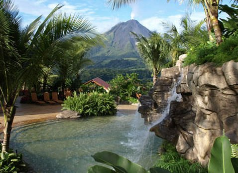 Arenal COMBO Tour Arenal Volcano Hike Slide 1 - Arenal Volcano & Hotsprings Tour!