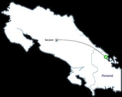 Bocas del Toro Flights Map - Bocas Flights