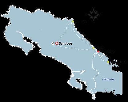 Caribbean Wet Wild Map - Puerto Viejo - Cahuita