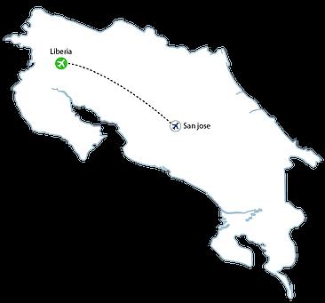 Liberia Flight Map - Liberia Flights