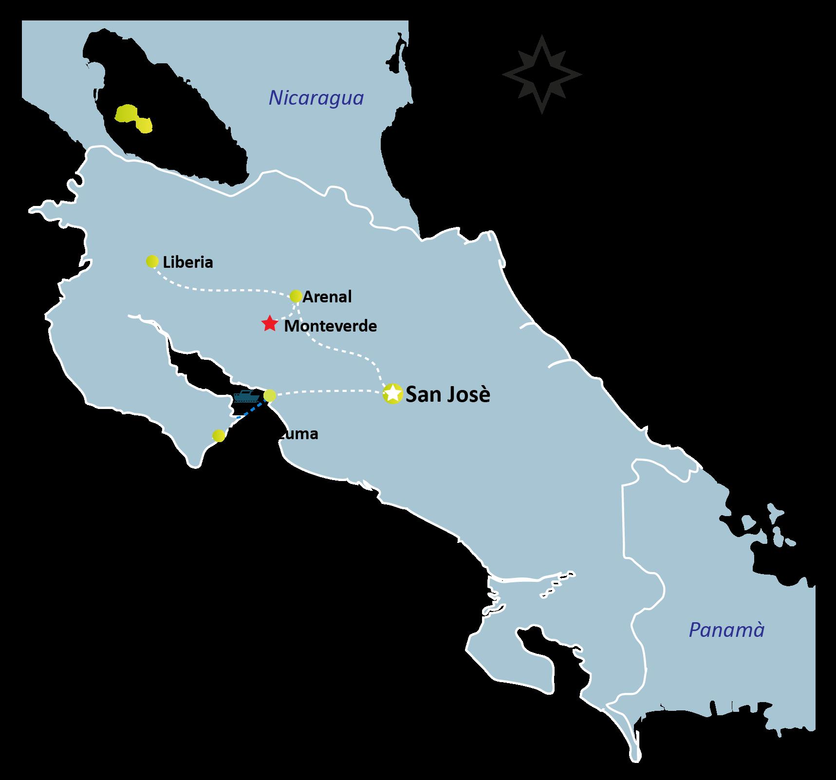 Monteverde Map - MONTEVERDE