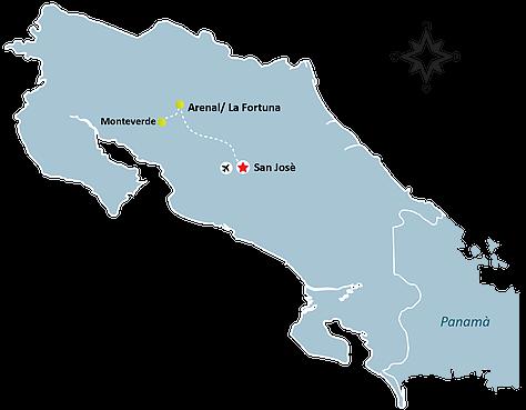 Pristine Green and Arenal Volcano Map - Pristine Green & Arenal Volcano Package