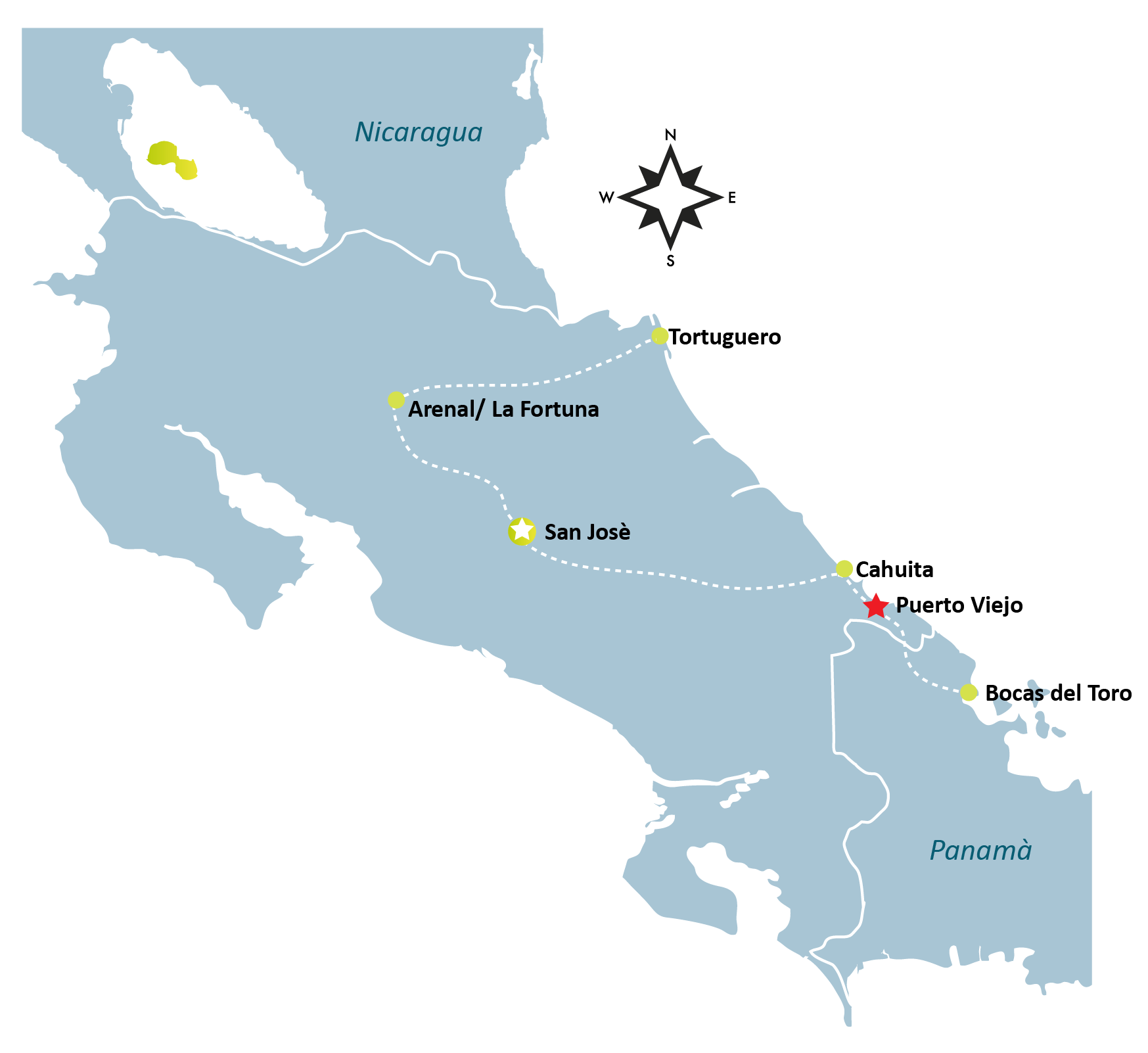 Puerto Viejo Map - PUERTO VIEJO