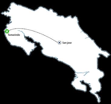 Tamarindo Flight Map - Tamarindo Flights