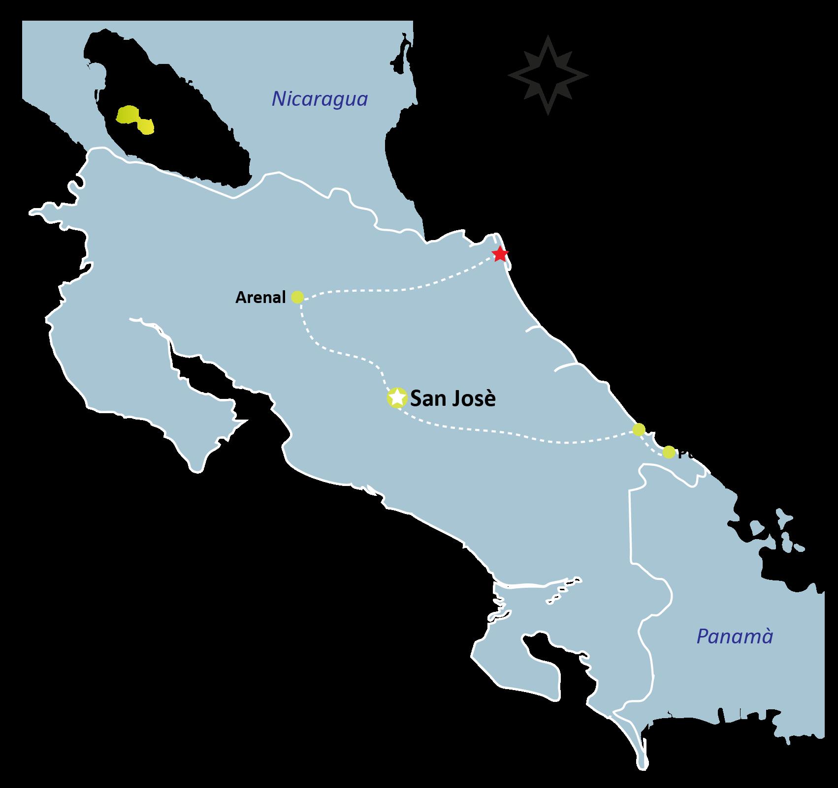 Tortuguero Map - TORTUGUERO