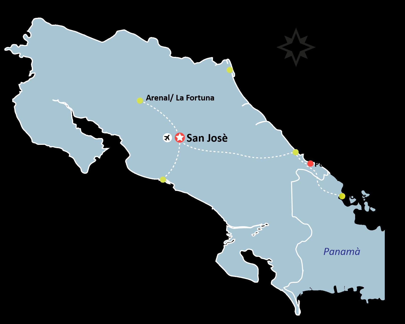 mapa Cruising the Pacific Caribbean 01 - Cruising the Pacific & Caribbean