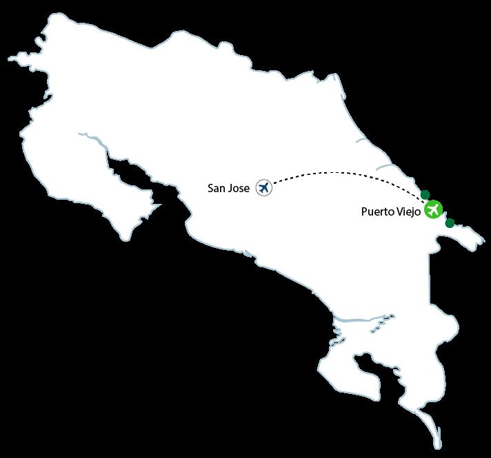 map puerto viejo 01 - Puerto Viejo/Cahuita/Manzanillo Flights