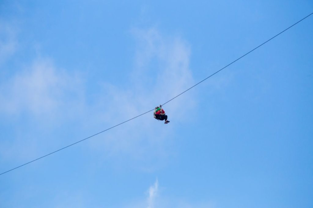 Costa Rica Zip line superman